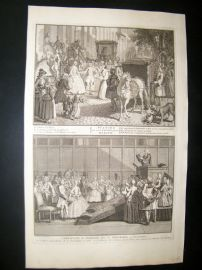 Picart C1730 Folio Antique Print. Religious Protestant Marriage